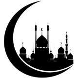 Sylwetka Ramadan Kareem Obraz Stock