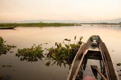 Sylwetka rybacy Zdjęcie Royalty Free