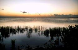 sylwetka słońca Zdjęcia Royalty Free