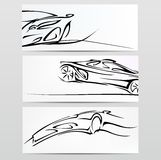 Sylwetka samochód. royalty ilustracja