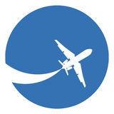 sylwetka samolot. Fotografia Stock