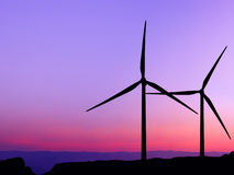 Sylwetka silnik wiatrowy Obraz Stock