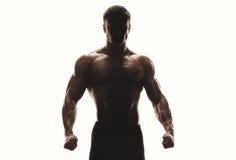 Sylwetka silny mężczyzna Fotografia Stock