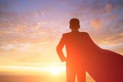 Sylwetka super biznesmen fotografia royalty free