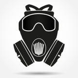 Sylwetka symbol maska gazowa respirator wektor Obraz Royalty Free