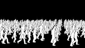 Sylwetka tłumu odprowadzenie, pętla ilustracja wektor