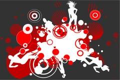 sylwetka tańca royalty ilustracja