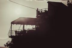 Sylwetka taras nad morzem Fotografia Stock