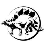 Sylwetka tusz do rzęs, dinosaur Stigosaurus Obraz Royalty Free