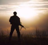 Sylwetka USA żołnierz piechoty morskiej Zdjęcie Royalty Free