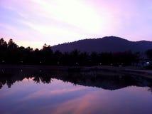 Sylwetka widok góra Zdjęcia Royalty Free