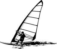 Sylwetka windsurfer Obraz Stock