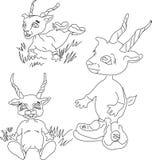 Sylwetki antylopy rodzaj ilustracji