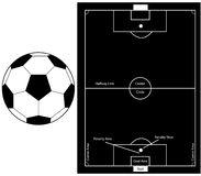 sylwetki futbolowa piłka nożna Obraz Stock