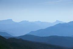 Sylwetki góra Zdjęcie Royalty Free