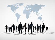 Sylwetki Globalni ludzie biznesu Obrazy Royalty Free