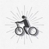 sylwetki ikony cyklista odizolowywający projekt Obrazy Stock