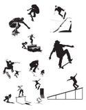 sylwetki jeździć na łyżwach x Zdjęcie Stock