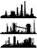 Sylwetki jednostki dla strefy przemysłowa ilustracji