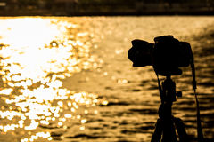 Sylwetki kamera Fotografia Stock