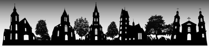 Sylwetki kościół Fotografia Stock