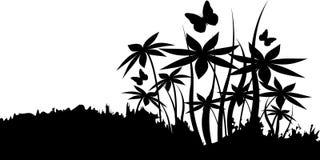 Sylwetki kwiaty ilustracji