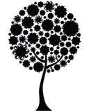 sylwetki kwiecisty drzewo Obraz Stock