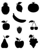 Sylwetki owoc Obraz Stock