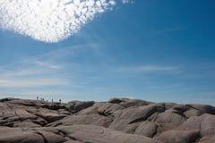 Sylwetki pod niebem Zdjęcie Stock