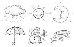 Sylwetki różni sezony ilustracji