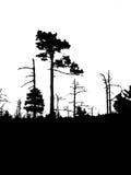 sylwetki stary drewno ilustracji