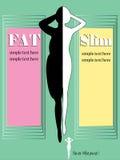 Sylwetki szczupłej kobiety infographic czarny i biały Zdjęcie Royalty Free
