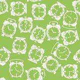 Sylwetki Zegarowej ikony Bezszwowy wzór Fotografia Stock