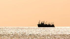 Sylwetkowa grupa łodzie obraz royalty free