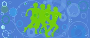 Sylwetkowi biegacze Fotografia Royalty Free