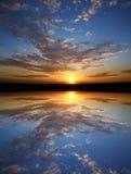 Symétrie de coucher du soleil photos libres de droits