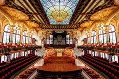 Symétrie de théâtre de Barcelone photographie stock