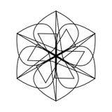 Symétrie géométrique de modèle Image libre de droits