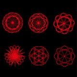 Symétrie réglée d'astrologie de pentagone étoilé d'étoile géométrique de modèle Image libre de droits