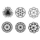 Symétrie réglée d'astrologie de pentagone étoilé d'étoile géométrique de modèle Photographie stock libre de droits