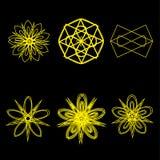 Symétrie réglée d'astrologie de pentagone étoilé d'étoile géométrique de modèle Image stock