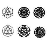 Symétrie réglée d'astrologie de pentagone étoilé d'étoile géométrique de modèle Photos libres de droits