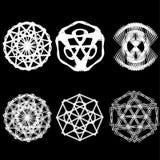 Symétrie réglée d'astrologie de pentagone étoilé d'étoile géométrique de modèle Images libres de droits