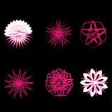 Symétrie réglée d'astrologie de pentagone étoilé d'étoile géométrique de modèle Photo libre de droits