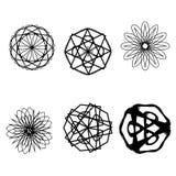 Symétrie réglée d'astrologie de pentagone étoilé d'étoile géométrique de modèle Photo stock