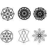 Symétrie réglée d'astrologie de pentagone étoilé d'étoile géométrique de modèle Photographie stock