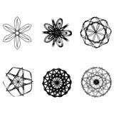 Symétrie réglée d'astrologie de pentagone étoilé d'étoile géométrique de modèle Photos stock