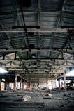 Symétrique intérieur abandonné de centrale Image stock