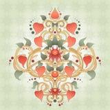 Symétriquement élément floral pour le modèle de conception Images libres de droits