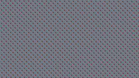 A symétriquement distribué les points ou les boules rayés blancs rouges sur le fond bleu-clair illustration stock